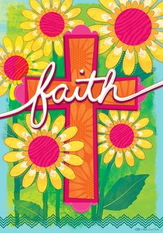 Custom Decor Faith, Floral Cross Flag, Large by the Velvet Lime Girls Christian Art, Christian Quotes, Cross Flag, Outdoor Flags, Bible Art, Scripture Art, House Flags, Paint Party, Art Quotes