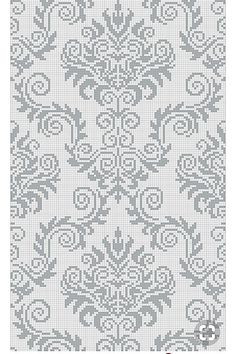 Cross Stitch Borders, Cross Stitch Designs, Cross Stitch Patterns, Macrame Patterns, Weaving Patterns, Crochet Patterns, Thread Crochet, Filet Crochet, Knitting Machine Patterns