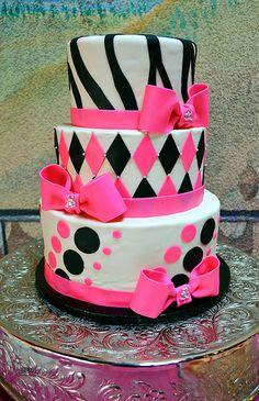 Sweet 16 Cake by Simply Sweet Creations (www.simplysweetonline.com)
