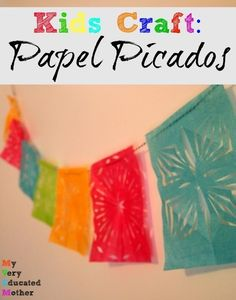 Beautiful craft for Cinco de Mayo! Almost like cutting out paper snowflakes! | My Very Educated Mother for Create Craft Love