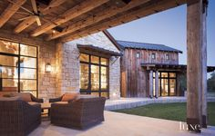 A Rustic, Barn-Style Retreat in Texas Hill Country | LuxeDaily - Design Insight from the Editors of Luxe Interiors + Design