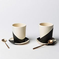 APPARATUS STUDIO SHIFT CUP AND SAUCER, SET OF 2  gardeshop.com