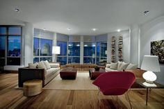 Canadian interior designer René Desjardins has completed the interior design of a penthouse apartment in downtown Montreal, Quebec.