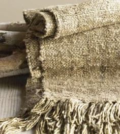 -Beautiful Texture and color -raw silk throw Weaving Textiles, Textile Fabrics, Brown Pillows, Living Styles, Vintage Textiles, Natural Linen, Soft Furnishings, Decorative Pillows, Burlap