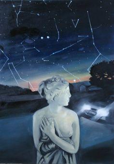 "Saatchi Online Artist: Orsi Horvath; Oil, 2012, Painting ""venus and car"" #art"