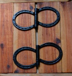 Horseshoe HINGES, hardware, door, gate, shed, corral, workshop, hardware, SUPER STRONG, Made To Order. $99.00, via Etsy.