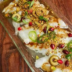 Gorgeous shot of Selin's winning dish for @cevicheuk who are raising money for #perufloods with an event #togetherforperu on 9th April - more info on their page @cevicheuk . .  #Repost @amyintheuk with @repostapp  ・・・  Monkfish & pomegranate ceviche with pistachios, olive & chilli. One of the guest chef dishes @cevicheuk by @oklava_ldn's Selin Kiazim.