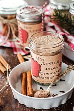 Hot Apple Cider Cinnamon Mix {free printable}