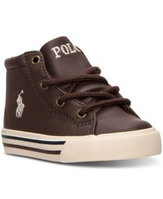 Polo Ralph Lauren Toddler Boys' Scholar Mid Casual Sneakers from Finish Line   macys.com