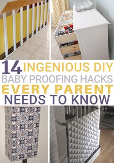 14 Ingenious DIY Baby Proofing Hacks Every Parent Needs to Know Baby stuff is expensive. Luckily, I've got your entire house covered with these 14 ingenious DIY baby proofing home hacks every parent needs to know. Baby Safety, Child Safety, Safety Tips, Baby Outfits, Toddler Proofing, Baby Proofing Ideas, Baby Cover, Childproofing, Home Hacks