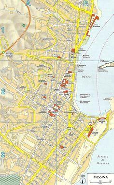 Carte Messine - Plan de Messine