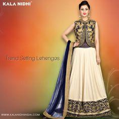 Trend Setting #Lehengas Shop Now : http://www.kalanidhiindia.com/