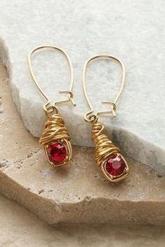 Dahlia Earrings - Red Earrings, Purple Earrings | Soft Surroundings