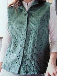 Knit Vest Models The Most Beautiful 2018 Knit Vest Samples Baby Cardigan Knitting Pattern Free, Knitting Paterns, Knit Patterns, Baby Knitting, Cardigan Sweaters For Women, Knit Cardigan, Crochet Woman, Knit Crochet, Sweater Design