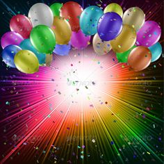 Party background Colourful balloons on a starburst background. Files included – ai (version ten and ), eps (version ten) and high resolution JPEG Created: GraphicsFilesIncluded: JPGImage Layered: No MinimumAdobeCSVersion: CS Tags: background Happy Birthday Colleague, Happy Birthday Cake Images, Happy Birthday Frame, Birthday Photo Frame, Happy Birthday Wishes Images, Happy Birthday Wallpaper, Happy Birthday Celebration, Birthday Wishes Quotes, Birthday Frames