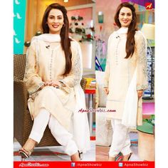 So elegant... Farah today at her morning show    #Pakistan #Farah #Fashion