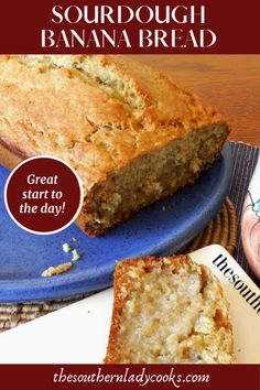 This Sourdough Banana Bread recipe will make your house smell so good while it is cooking. The bread is light, easy to make Sourdough Recipes, Low Sugar Recipes, Banana Bread Recipes, Yummy Recipes, Dough Starter Recipe, Starter Recipes, Bread Gifts, Fresh Bread