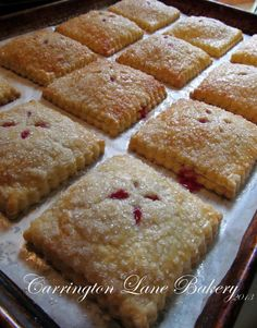 Carrington Lane Bakery: Strawberry Cream Cheese Hand Pies Two tips: one during first crust stage add a little flour, two put a little more cream cheese than strawberry as strawberry will overpower cream cheese flavor (Flavored Cream Cheese) Mini Desserts, No Bake Desserts, Just Desserts, Delicious Desserts, Dessert Recipes, Yummy Food, Plated Desserts, Biscuits, Cupcake Cakes