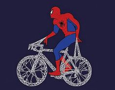 Spiderman bicycle art / Spidey riding a spiderweb bike Bicycle Store, Bicycle Art, Push Bikes, Bmx Bikes, Road Bikes, Bicycle Drawing, Cycling Art, Star Wars Characters, Pop Culture