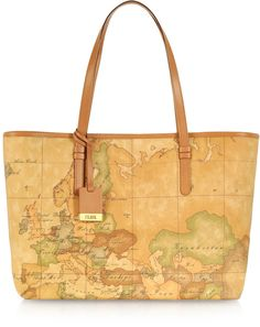 Alviero Martini 1A Classe 1a Prima Classe - Geo Printed Large 'New Basic' Tote Bag - $325.00