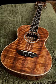 Curly koa tenor ukulele, Handmade Ukulele Gallery from Lichty Guitars