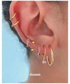 Ear Jewelry, Cute Jewelry, Body Jewelry, Jewlery, Silver Jewelry, Pretty Ear Piercings, Ear Peircings, Multiple Ear Piercings, Ear Piercings Chart
