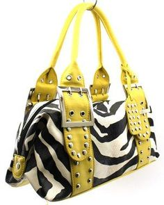 Zebra Print Hand Bag