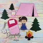 Camping Set (for GGD Dress Up Dolls) - Embroidery Design 5x7 hoop or larger (COPY) (COPY)