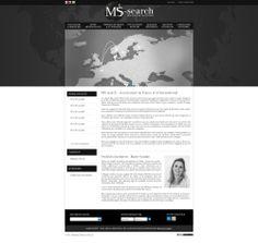 Maquette site Ms-search.fr - createur site vitrine pour votre cabinet de recrutement