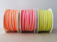 Narrow neon edge ribbon - choose your colour Cloud Craft, Embroidery Scissors, Cute Headbands, Yarn Bowl, Pretty And Cute, Sewing For Beginners, Stitch Markers, Neon Colors, Wool Felt