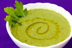 Zucchini and Arugula Soup - adding 1 sliced fennel bulb to the zucchini saute and using tarragon rather than bay leaf. I think the sweetness of these extra ingredients will play nicely against the spicy arugula!