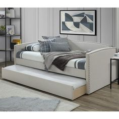 Trundle Mattress, Twin Daybed With Trundle, Trundle Beds, Teen Girl Bedrooms, Kids Bedroom, Bedroom Ideas, Bedroom Decor, Daybed Room, Sofa Daybed