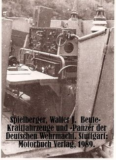 Unic P 107. The radio equipment was stowed in the passenger side rear part of the fighting compartment, following the convention utilized in Sd.Kfz 250 and 251s.