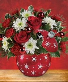 Starry Ornament by Mary Murray's Flowers #Tulsa #Florist
