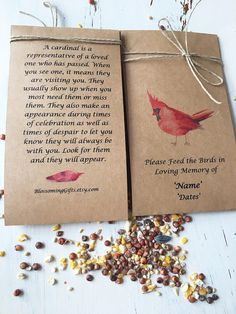 Funeral thank you - funeral thank you notes - condolence card thank yous Funeral favor - bird seed funeral- bird seed favor- memorial - Welcome to our website, We hope you are satisfied with the content we offer. If there is a problem - # Funeral Memorial, Memorial Gifts, Memorial Ideas, Memorial Quotes, Bird Seed Favors, Bird Seed Crafts, Funeral Gifts, Funeral Ideas, Funeral Thank You Notes
