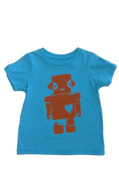 Walking Robot Girl: Hand Printed 100% Organic Cotton Original Mushpa + Mensa Design Toddler T-Shirt  #organiccotton #handprinted #design #tshirts #screenprinted #robotgirl #robot #feminist #surfergirl #robotlove #sciencefiction #GirlLove #robotgirlsurfer