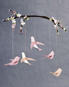бумажные птицы, бумажные птички