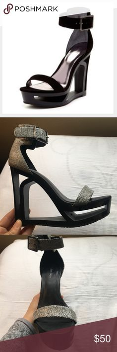 CALVIN KLEIN Yasu cutout wedge So cool looking. They're actually very comfortable to wear for long periods of time. In very good condition, have been in storage for quite a while (only worn a few times) OFFERS WELCOME Calvin Klein Collection Shoes Platforms