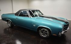 1970 Chevrolet El Camino Super Sport: 2 door color black Interior and aqua outside, turbo 400 automatic transmission and 56,411 miles with a 454 V8 engine and 14-inch wheels; Wine used: 136800L135124 and numbers are not matched.   This vehicle is available for sale, contact us on: www.misterdeals.com / or call us on: 08-05-08-02-81 if you are interested in this vehicle.   Our prices are: 19.499 euros