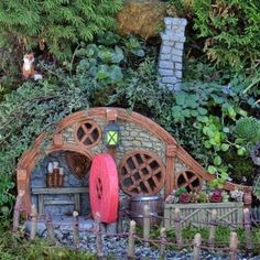 Fairy Garden Miniature House Red Root. SHOP now $42.99