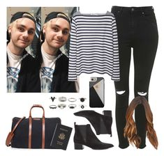 """Airport in Sydney with Michael. -----> *Cynthia."" by imaginegirlsdsos ❤ liked on Polyvore featuring Topshop, T By Alexander Wang, T. Anthony, Acne Studios, Royce Leather and Casetify"