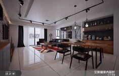 50坪實用系有型住宅!系統家具翻玩復古工業風 Loft Style, Conference Room, Interior Design, Table, Furniture, Home Decor, Nest Design, Decoration Home, Home Interior Design