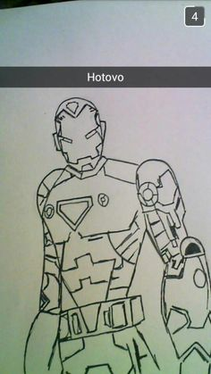 How to draw: Iron Man by KK