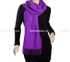 Cashmere Feel Scarf Z19-21 Color: Violet