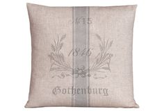 Gothenburg 20x20 Pillow, Nordic Blue on OneKingsLane.com