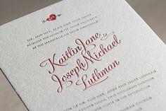Heartthrob Letterpress Wedding Invitations
