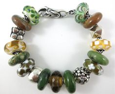"The ""Natural Beauty"" Trollbeads Bracelet, by Tartooful... featuring Canadian Jade."