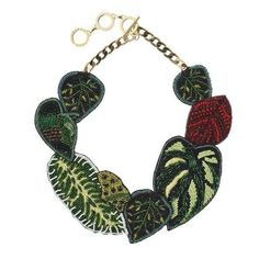 Forest Of Chintz Rainforest Necklace (€275) ❤ liked on Polyvore featuring jewelry, necklaces, green, adjustable necklace, bead chain necklace, beading necklaces, chains jewelry and beading jewelry