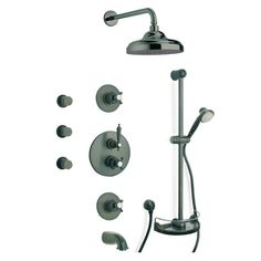 latoscana ornellaia combination 8 2handle tub and shower faucet with handshower in oil