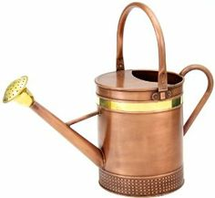 Behrens 2CRWC 2-Gallon Copper Watering Can, Round by Behrens. $33.63. Two durable handles for easy portability. Stylish brass ring and rosebud. Capacity: 2 Gallon. Embossed pattern on base. Behrens 2 Gallon Round Copper Watering Can is made with high quality galvanized steel with decorative copper finish.  Stylish and functional.. Save 33%!
